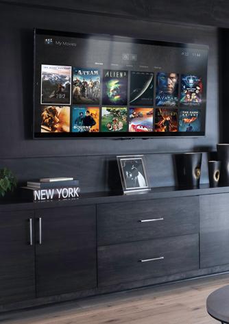 Home Cinema installation example